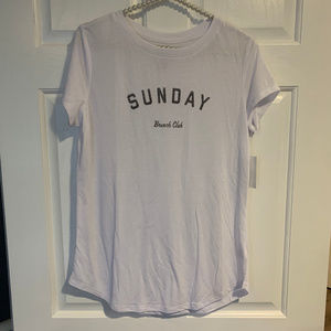 NEW The Print Shop White Graphic Brunch Tee